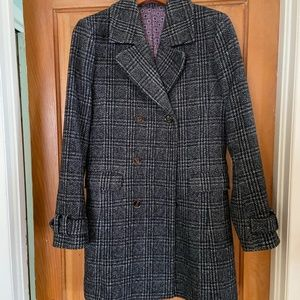 Ted Baker London Wool Plaid Coat  Size 1